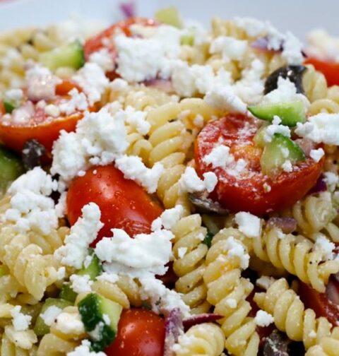 greek pasta salad with feta