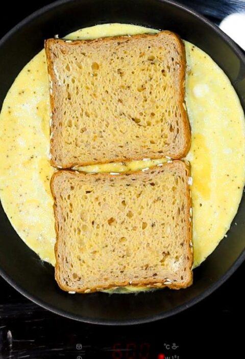 omelette sandwich tiktok