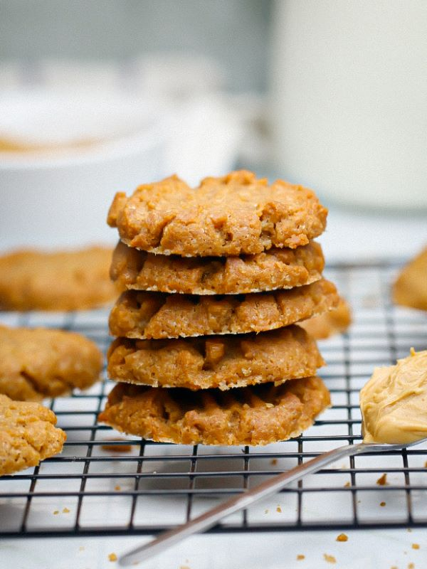 Easy 3 Ingredient Peanut Butter Cookies Recipe Rich And Delish