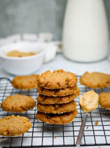 3 ingredient peanut butter cookies vegan