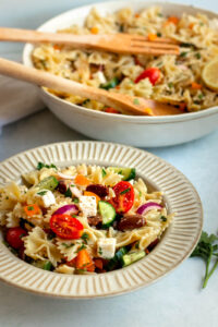 greek pasta salad with orzo