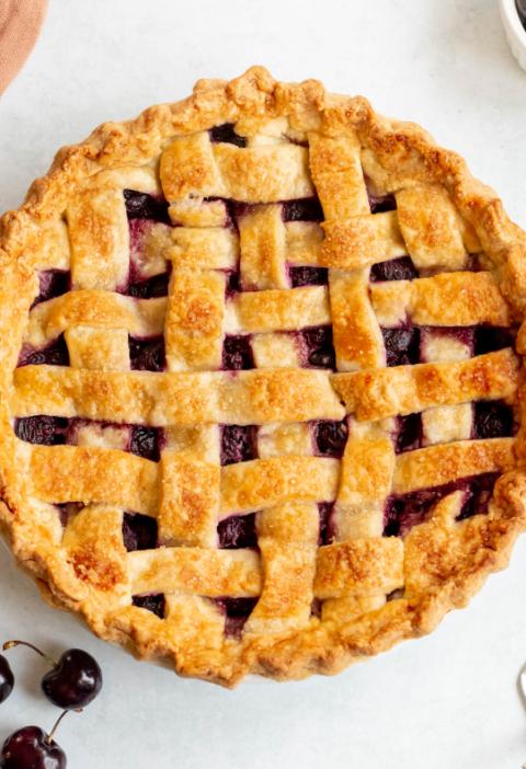 homemade cherry pie recipe