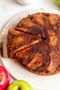 easy apple upside down cake