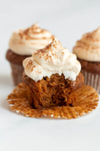 carrot cake cupcakes with pineapple