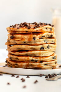 chocolate chip pancakes for one