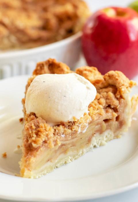 easy apple crumble pie