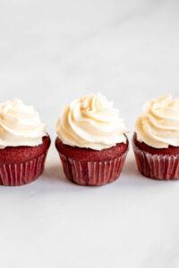 red velvet cupcakes decoration