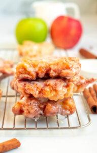 fried apple fritters recipe